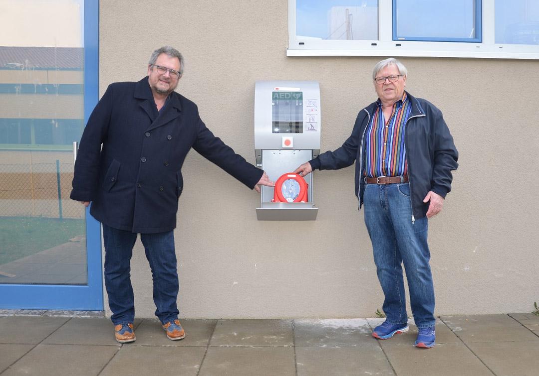 Defibrillator-Standort am Jugendzentrum